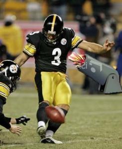 Steelers Comic Kicker Football